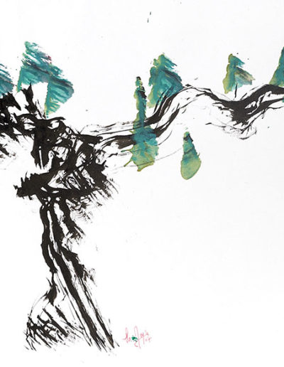 thierry Moyne - peinture à base de vins du Jura et de terre
