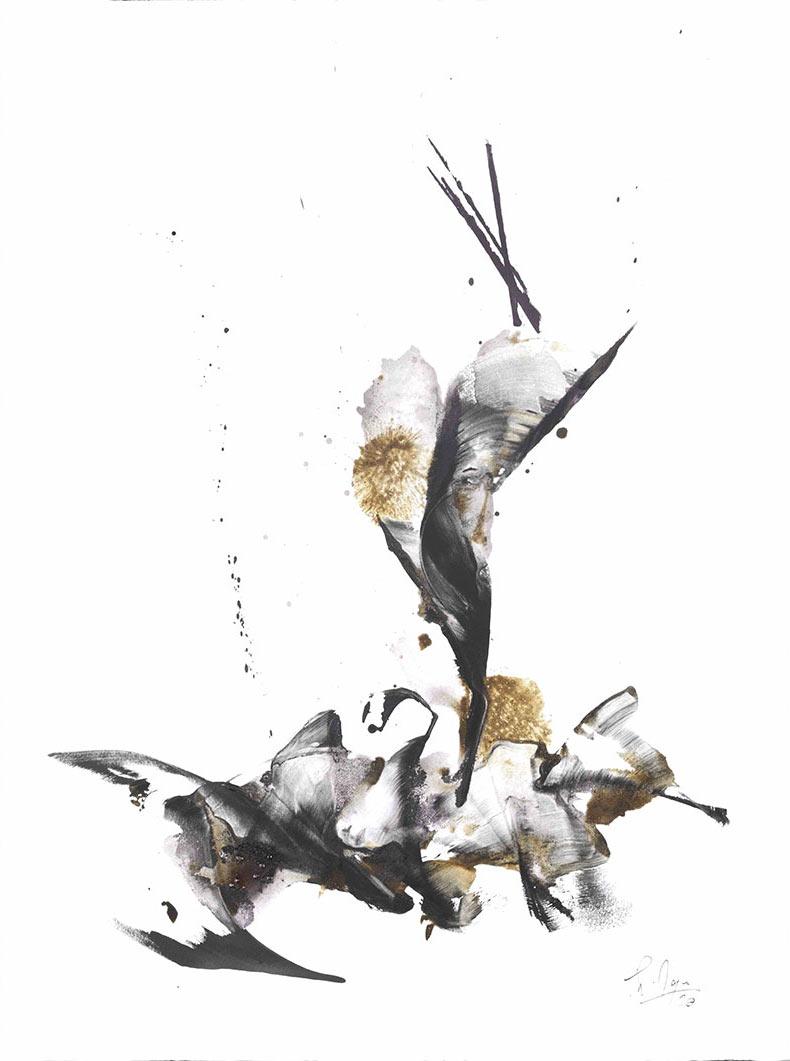 Calligraphie terre jura vin naturel vins du Jura biodynamie thierry moine peinture avec du vin art et vin
